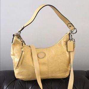 Coach F19282 Signature Yellow Convertible Handbag
